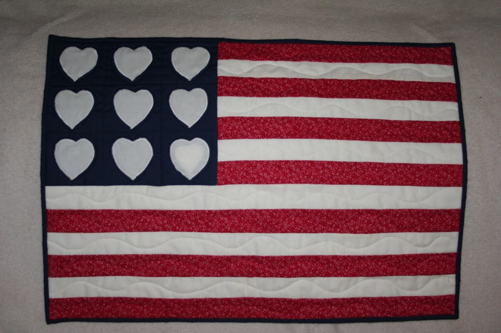 USA Flag Wall Hanging June, 2013