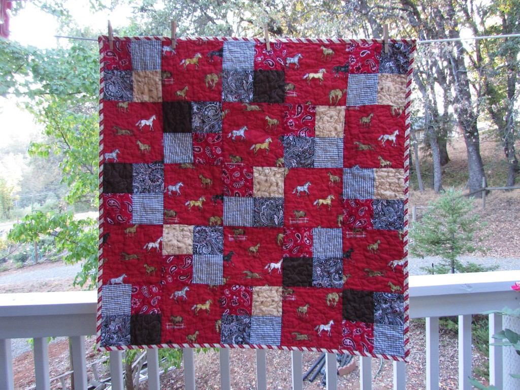 Cowboy Small Baby Quilt; September 2014
