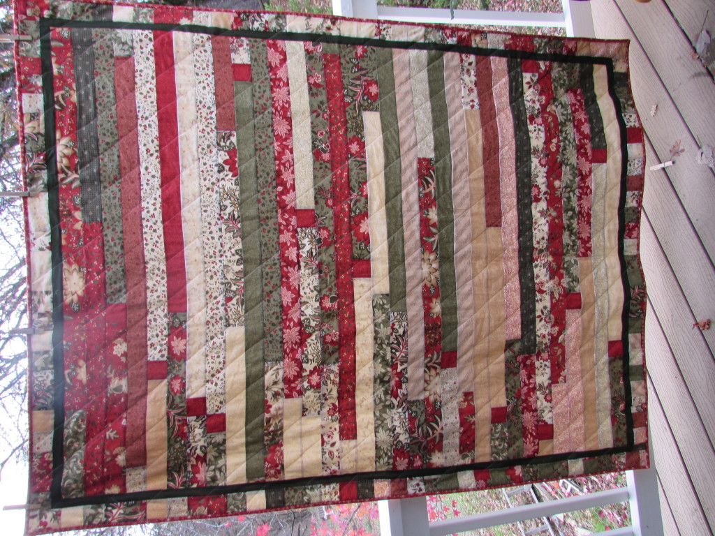 Holiday Jelly Roll Quilt November, 2014