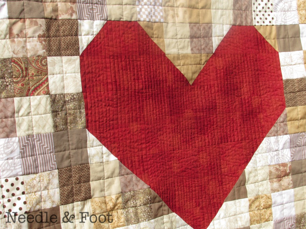Patti's Heart Quilt; March 2015