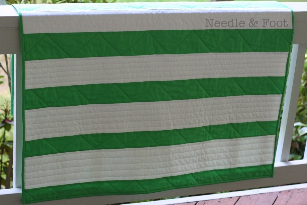 Modern Striped Quilt; June 2015