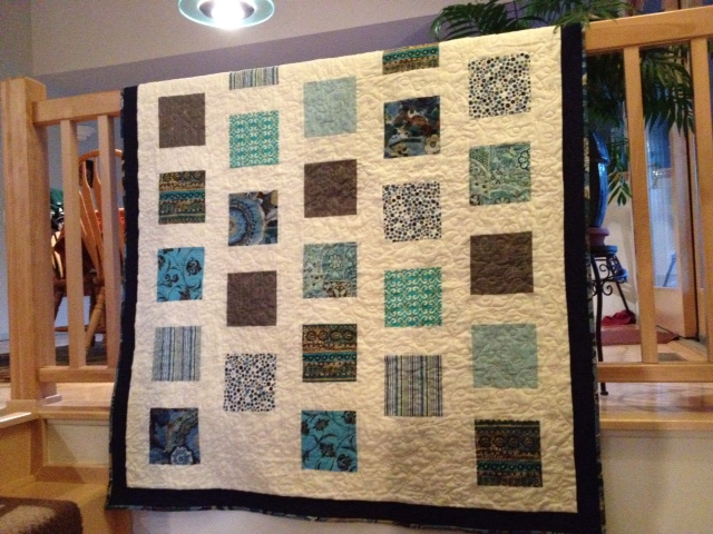 Square Upon Square Donation Quilt April, 2013