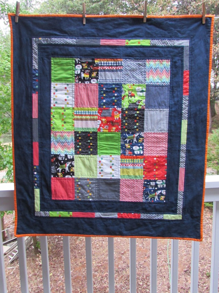 Snips, Snails & Puppy Dog Tails - Baby Boy Quilt August 2014