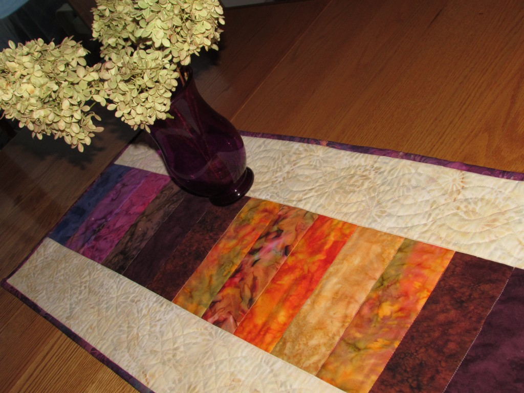 Sunset Tablerunner September, 2014