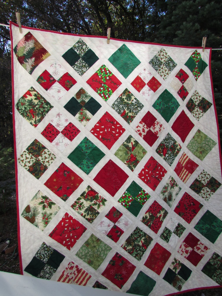 Lattice Christmas Quilt November, 2014