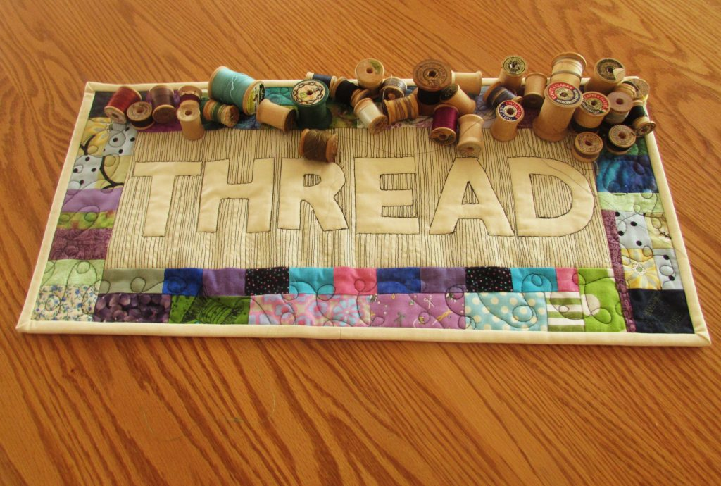 Thread Mini Quilt; August 2016