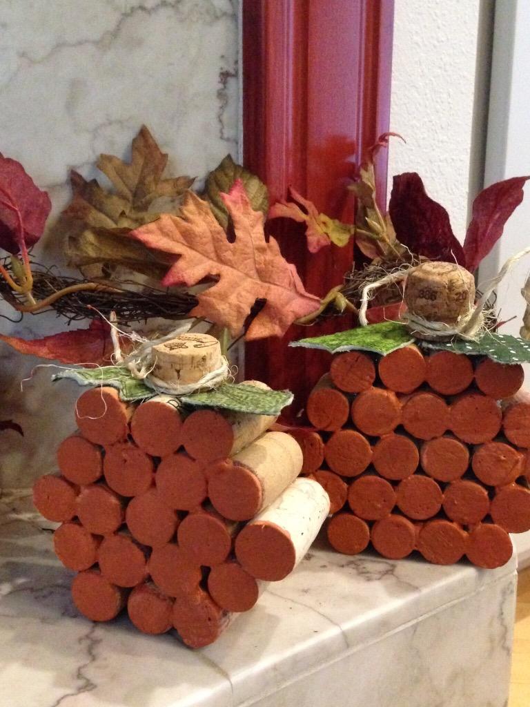 Crafty Saturday- Wine Cork Pumpkin