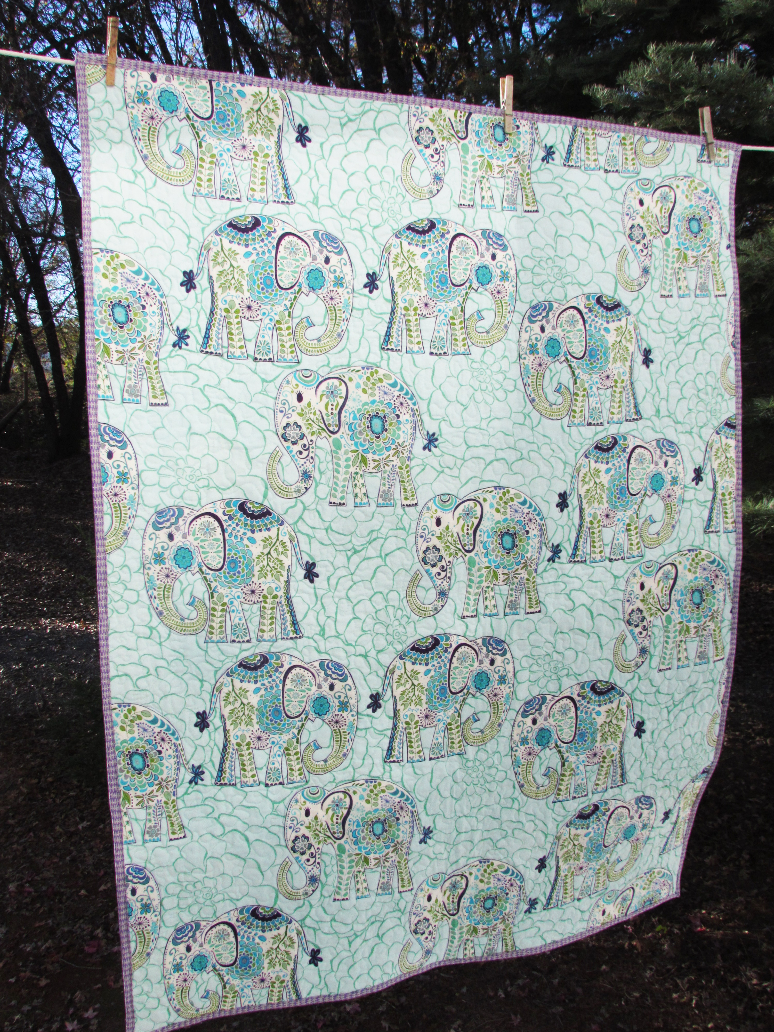 Whole Cloth Baby Quilt | Needle and Foot