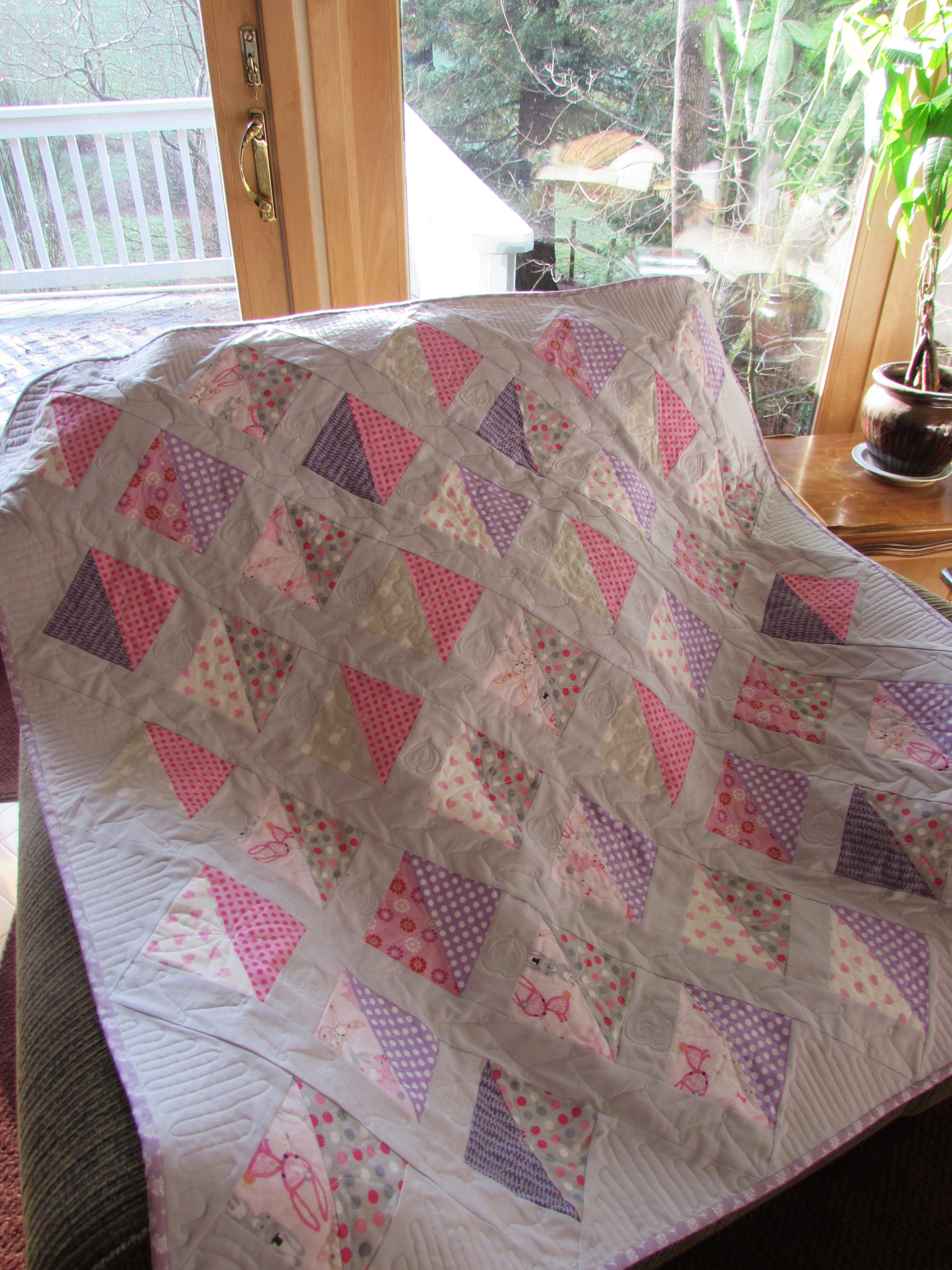 A Quilt For Baby Girl Needle And Foot