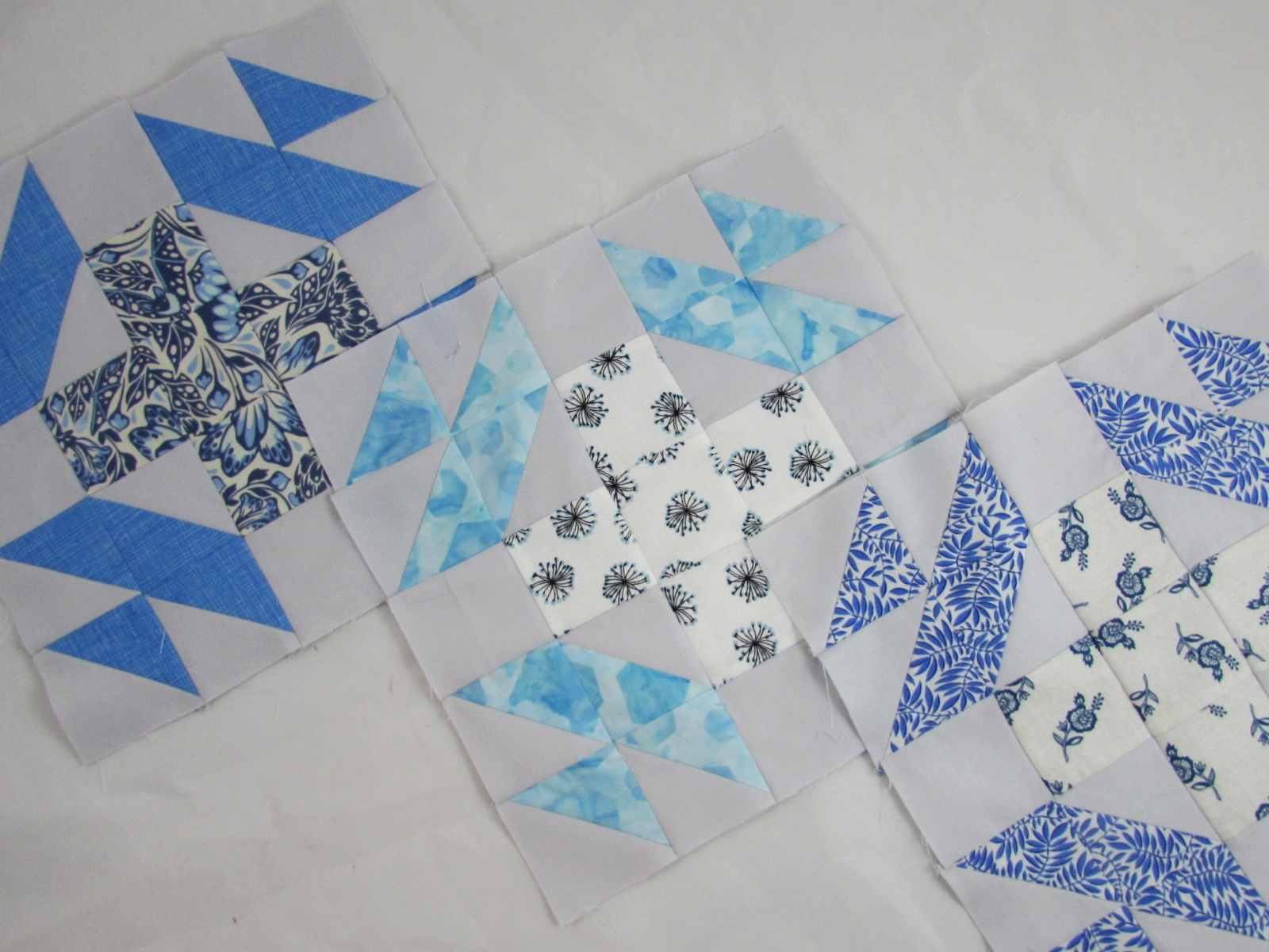 Using Scraps – Light Blue